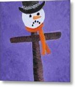 Frosty Cross Metal Print