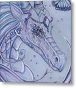 Frosty Dragon Metal Print