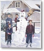 Frosty In Fifty Metal Print