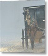Frosty Morning In Amishland Metal Print
