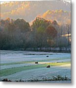 Frosty Morning On The Farm Metal Print