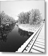 Frosty Morning On The Poudre Metal Print