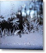 Frosty Morning Window Metal Print