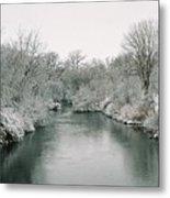 Frosty River Metal Print