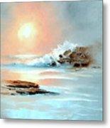 Frosty Seas Metal Print