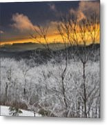 Frosty Sunset Metal Print