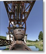 Frowning Dredge Metal Print