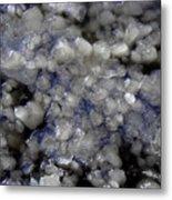 Frozen Blue Metal Print