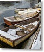Frozen Boats Metal Print