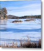 Frozen Bryant Pond Metal Print