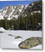 Frozen Colorado  Metal Print