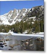 Frozen Colorado Lake Metal Print
