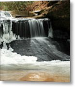 Frozen Creation Falls Metal Print