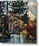 Frozen Creek II Painting Metal Print