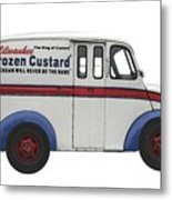 Frozen Custard On Wheels Metal Print