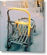 Frozen Dogsled Metal Print
