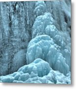 Frozen Falls Along The Icefields Parkway Metal Print