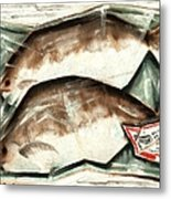 Frozen Fish Art Print Metal Print