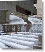 Frozen Fountain Metal Print