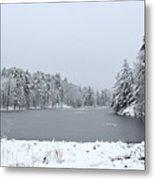 Frozen Lake 1 Metal Print