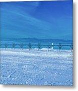 Frozen Lake Michgan At Grand Haven Metal Print