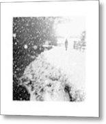 Frozen Moments - Walking Away Metal Print