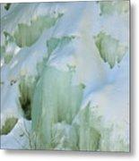 Frozen Moss Glen Falls Metal Print