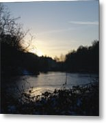 Frozen Pool At Sunset Metal Print