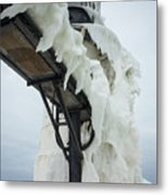 Frozen St. Joseph Outer Lighthouse Metal Print