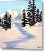 Frozen Tranquility Metal Print