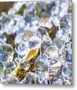 Frozen Water Droplets Metal Print