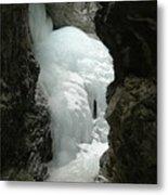 Frozen Zapata Falls Metal Print