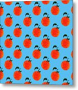 Fruit 01_orange_pattern Metal Print