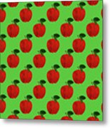 Fruit 02_apple_pattern Metal Print