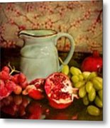 Fruit And Pitcher Metal Print