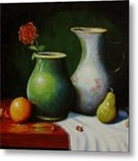 Fruit And Pots. Metal Print