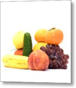 Fruit And Vegetables Ansamble Metal Print