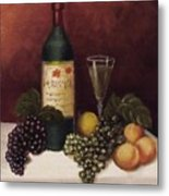 Fruit And Wine  B Metal Print by Helen Thomas