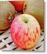 Fruit Basket. Apple. Metal Print