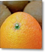 Fruit Basket. Orange. Metal Print