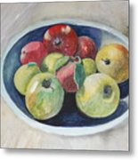 Fruit Bowl For Health Metal Print by Janna Columbus