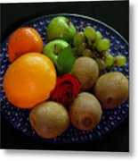 Fruit Dish Metal Print