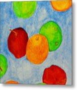 Fruit Drops Metal Print