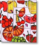 Fruit Fractals Metal Print