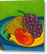 Fruit In Bowl Metal Print