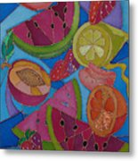 Fruit Mix Metal Print