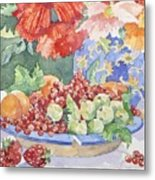 Fruit On A Plate Metal Print