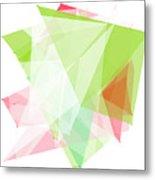Fruit Polygon Pattern Metal Print