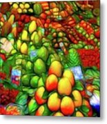 Fruit Stand At La Boqueria Metal Print