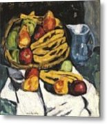 Fruit Still Life By Marsden Hartley Metal Print